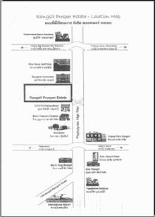 Map near Rangsit prosper estate